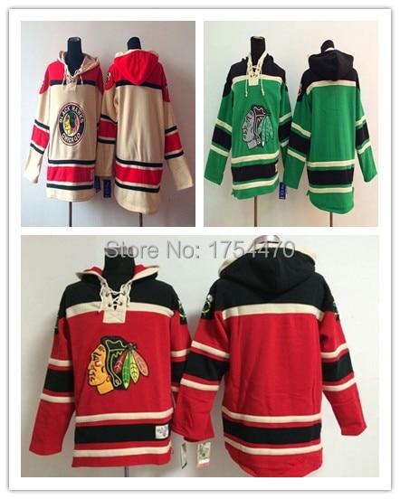 92cde2ca985 Cheap Men's Old Time Hockey Jerseys Chicago Blackhawks Blank No Name Number  Fleece Hoodie Jerseys Sweatshirt Sport Winter Jacket