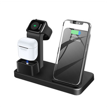 FDGAO 10W Wireless Charging Dock Station For IPhone X XS Max XR 8 Plus QI Wireless Charger Stand For AirPods Apple Watch Charger fdgao 3 in 1 charging dock station stand for airpods apple watch 10w fast qi wireless charger for iphone x xs max xr 8 7 6 plus