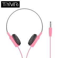 TiYiViRi Headphones Foldable Portable Adjustable Earphones 3.5mm Headset Earphone For Xiaomi Huawei iPhone Smartphone Table PC