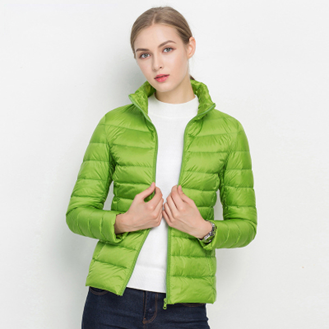 Women Winter Coat 2019 New Ultra Light White Duck Down Jacket Slim Women Winter Puffer Jacket Portable Windproof Down Coat 5