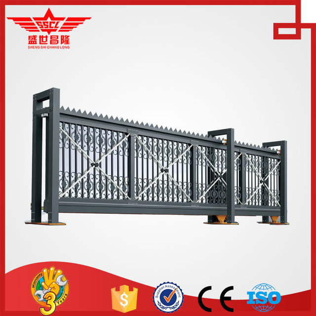 Telescopic Sliding Elegant Luxury Industrial Stainless Steel Gate ...