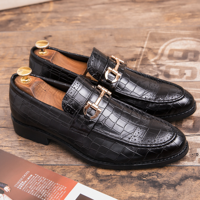 US $25.6 |CIMIM Brand Formal shoes men Large size Pointed Toe men shoes leather business Office Dress Shoes Brogue Luxury Wedding Shoe in Formal Shoes