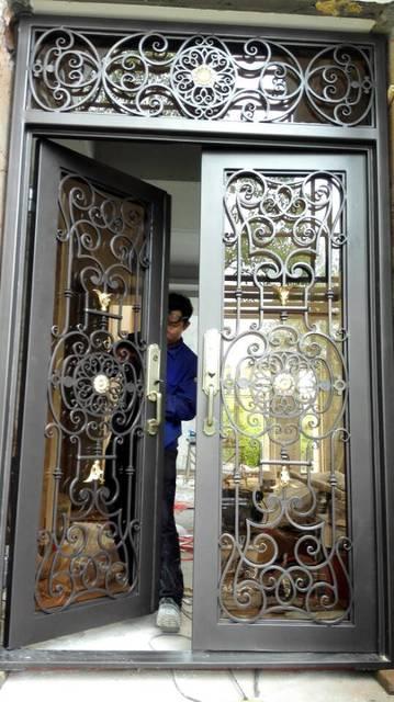Custom 1600mm X 2600mmwrought Iron Doors Front Doors Wrought Iron
