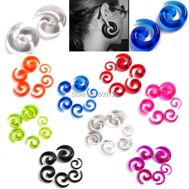 Acrylic Ear Tapers Expanders 12pcs