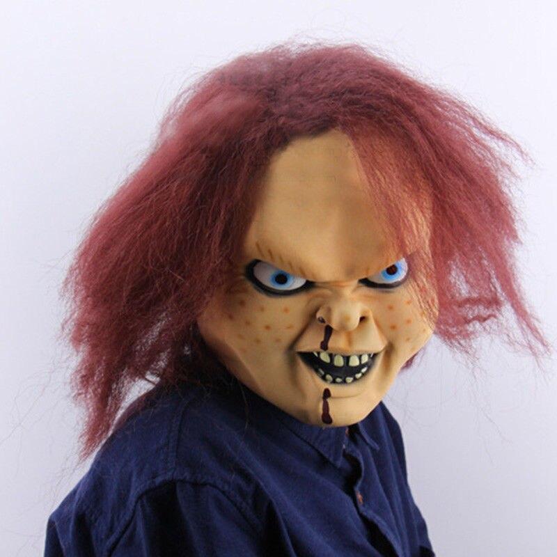 Image 5 - Детская игра Чаки маска Террор Хэллоуин страшные взрослые полный голова опора косплей латексные маски-in Аксессуары для костюмов from Новый и особенный в использовании