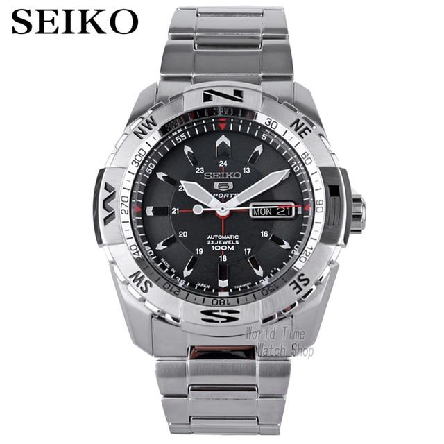 Homens relógio seiko 5 relógio automático Marca De Luxo Relógio De Pulso Esporte Data mens relógios relógio de mergulho À Prova D' Água relogio masculino SRP