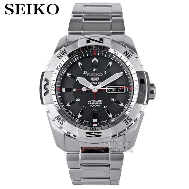 Seiko zegarek mężczyzn 5 automatyczny zegarek top marka luksusowe wodoodporna Sport mężczyźni zestaw zegarków mechaniczny wojskowy zegarek do nurkowania relogio reloj w Zegarki sportowe od Zegarki na  Grupa 1