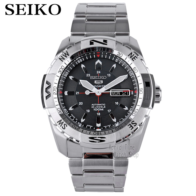 seiko watch men 5 automatic watch top brand luxury Waterproof Sport men watch set mechanical military diving watch relogio reloj-in Sports Watches from Watches