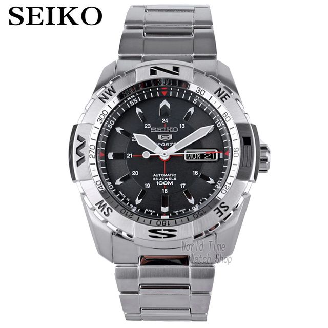 seiko watch men 5 orologio automatico top brand luxury 100Waterproof Sport men watch orologi meccanici orologio da sub militare 24 Numero di gioielli часы мужские relojes reloj hombre relógio relogios relogio masculino