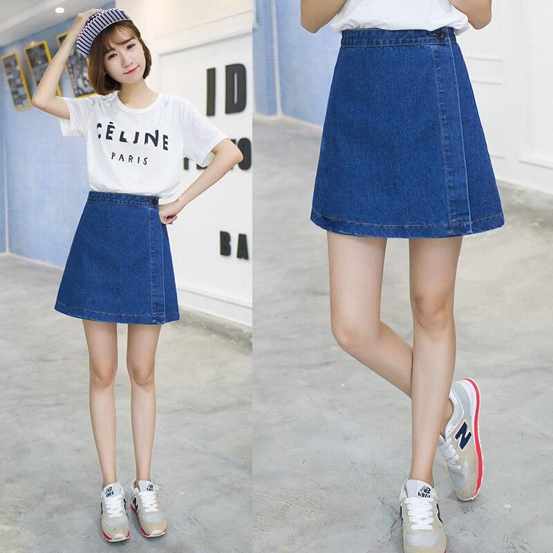 Popular Denim Skirt Black-Buy Cheap Denim Skirt Black lots from ...