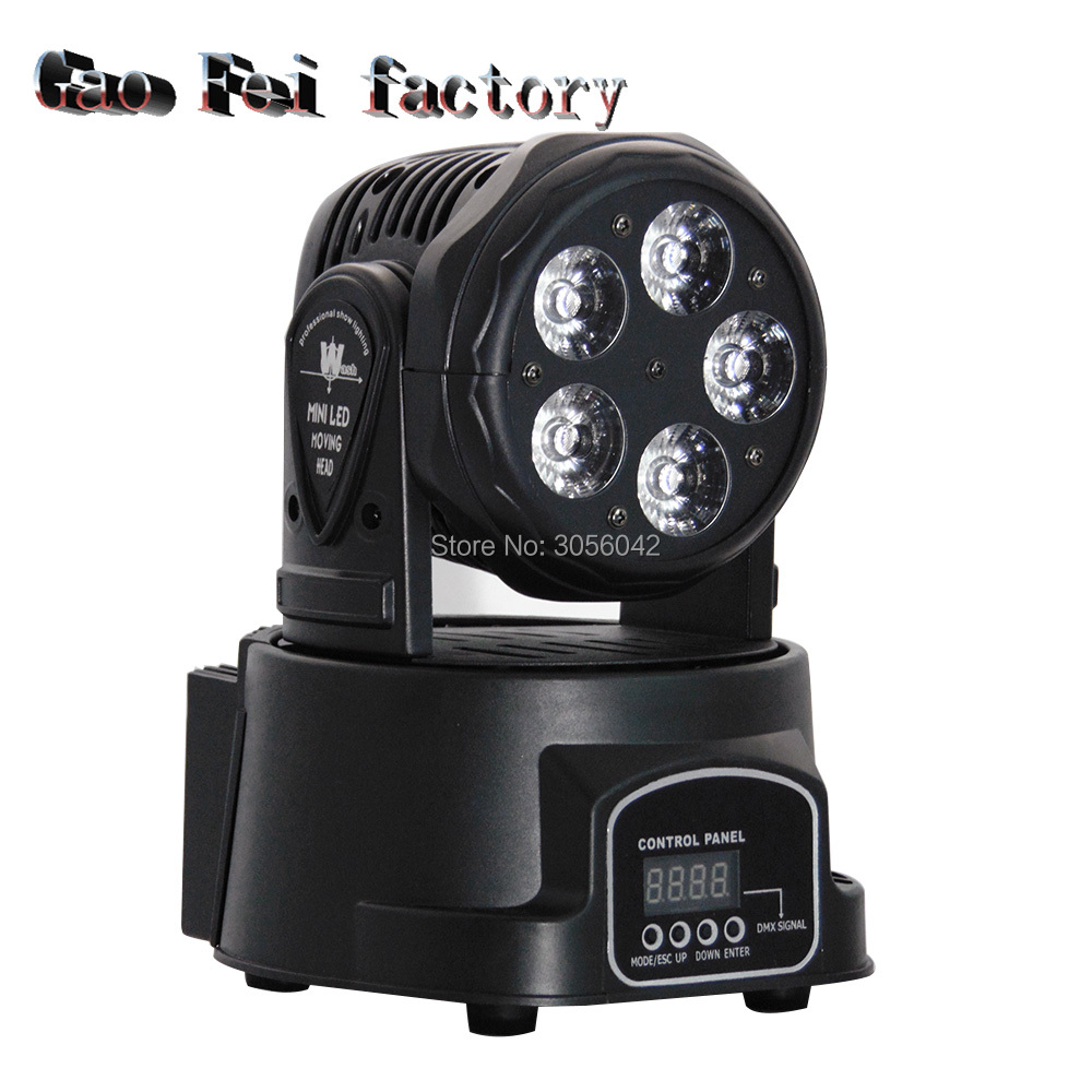 5x15w RGBWA+UV 6in1 LED Mini Moving Head Light DMX Wash Light For Event event