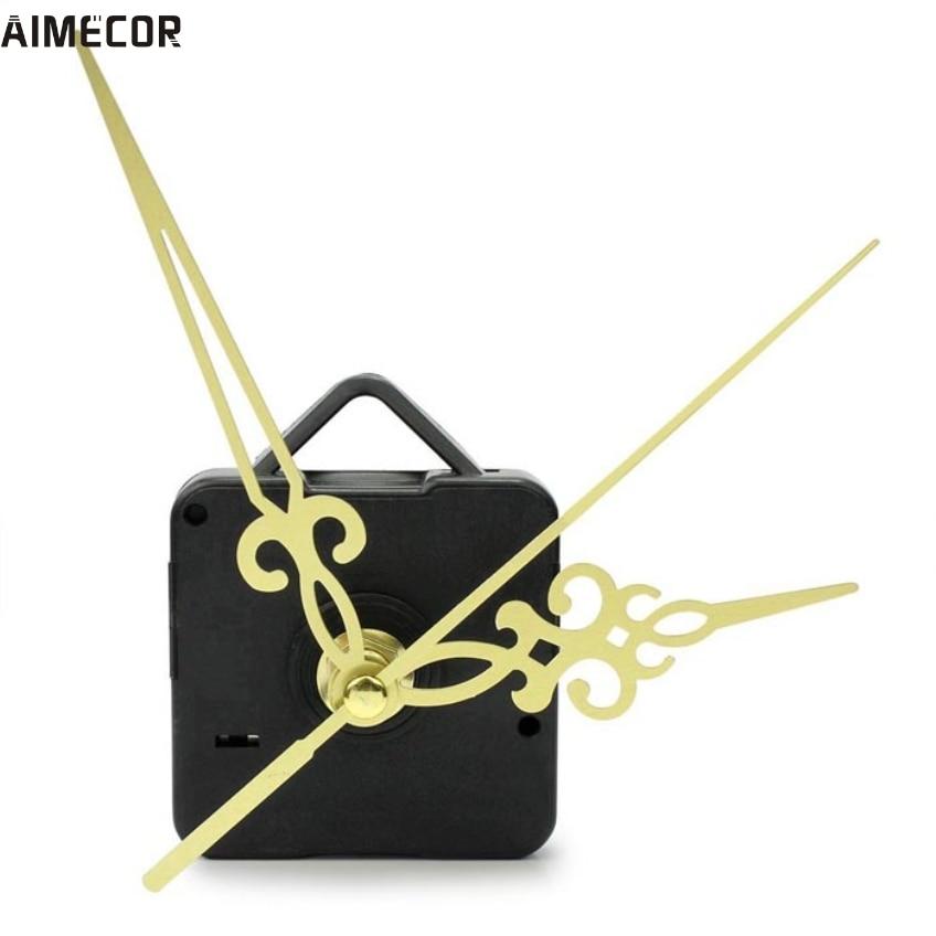 Aimecor 1 ST Gelukkige Geschenken Zwarte Mode Eenvoudige Gouden Handen DIY Quartz Wandklok Beweging Mechanisme Vervanging # dropship