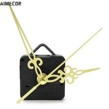 Aimecor 1PC Happy Gifts Black Fashion Simple Gold Hands DIY Quartz Wall Clock Movement Mechanism Replacement # dropship