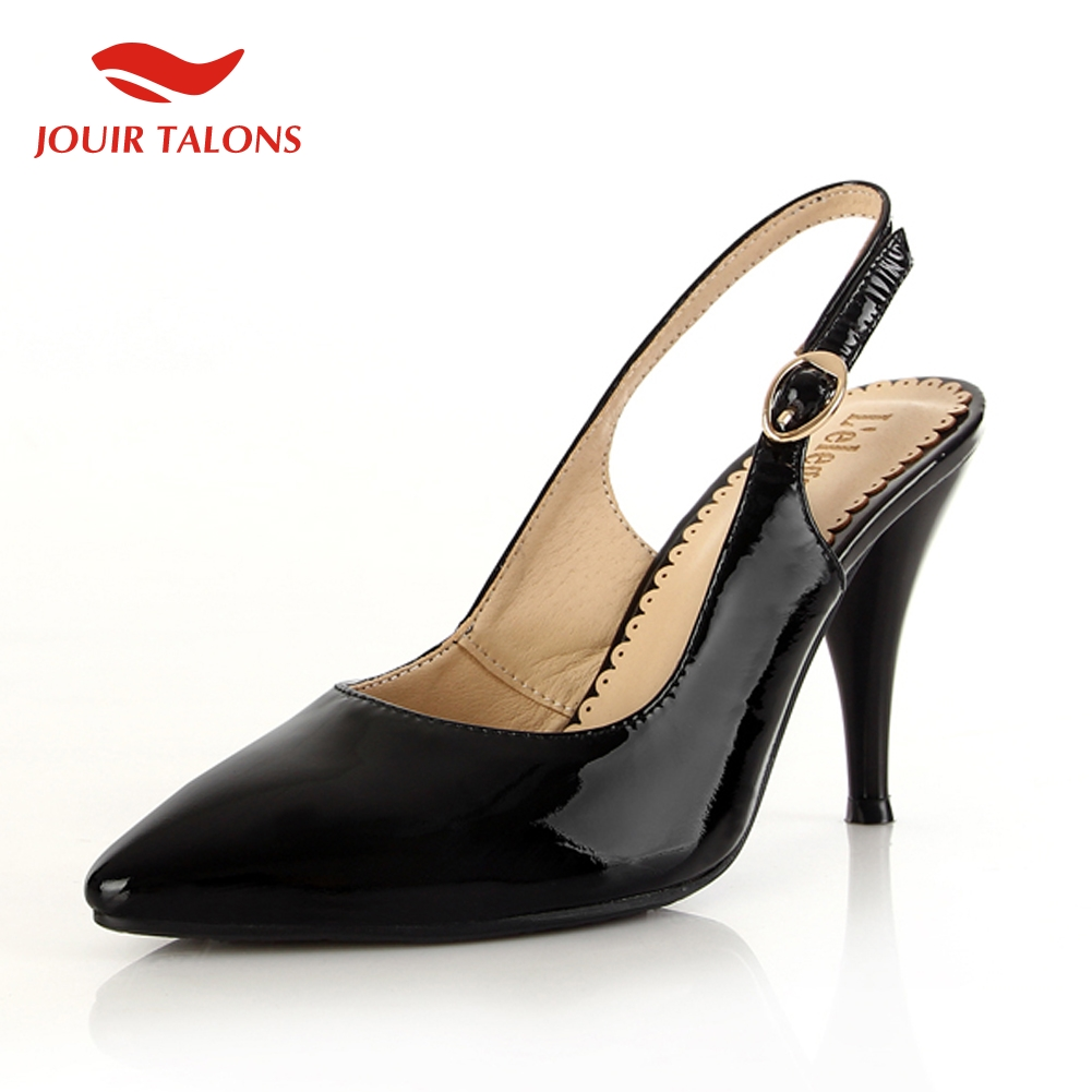 JOUIR TALONS elegant big size 30-45 genuine leather Woman Shoes high Heels Party shoes woman slingback sandals lady pumpsJOUIR TALONS elegant big size 30-45 genuine leather Woman Shoes high Heels Party shoes woman slingback sandals lady pumps