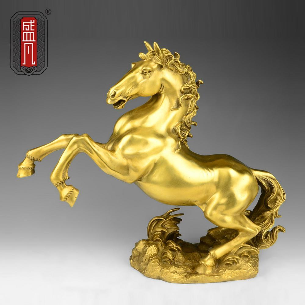 Ma Sheng ventilateur cuivre ornements cuivre cheval cheval bijoux artisanat décoration, décoration