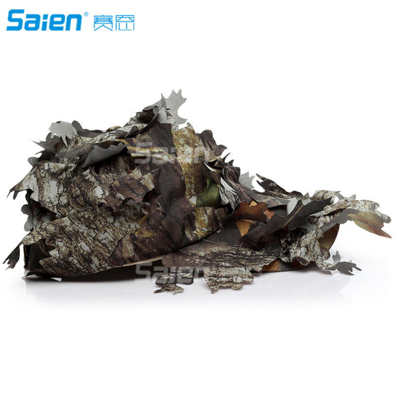 03b28f1c757 Camouflage 3D Leafy Bucket Hat Hunting Military Camo Cap Hunter Sniper  Ghillie Bucket Hats Adjustable Jungle Bush Hat-in Hunting Caps from Sports  ...