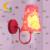 Crianças de moda moderna lustre de cristal dos desenhos animados caçoa a menina princesa prink quarto lustre lâmpada Led