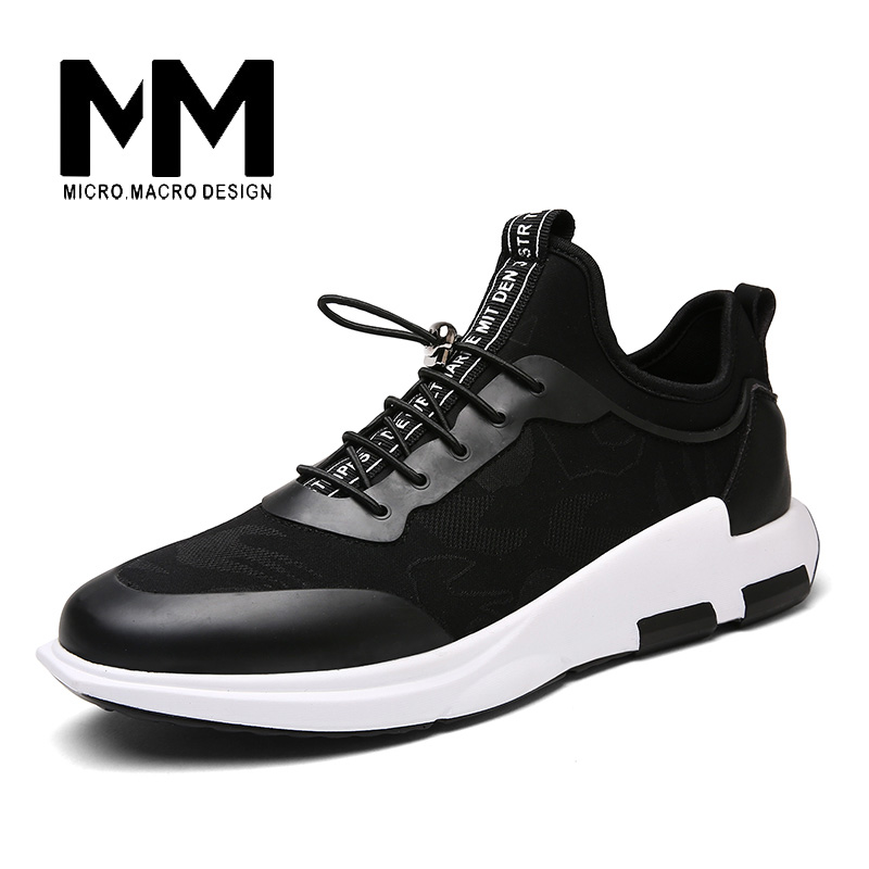 MICRO. MACRO Men Casual Shoe 2017 Spring New Design Linghtweight Breathable Solid Fashion flat shoe Pu Leather men shoe 1701 micro micro 2017 men casual shoes comfortable spring fashion breathable white shoes swallow pattern microfiber shoe yj a081