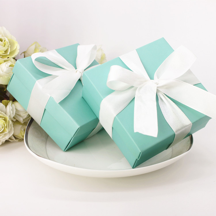 Aliexpress Buy 100 X Small Tiffany Blue Sweet Favor Boxes