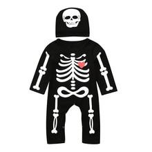 2 предмета, зимняя одежда для новорожденных мальчиков, комбинезон для Хэллоуина, шапка, одежда для малышей, одежда для девочек, одежда для младенцев, комплект для новорожденных