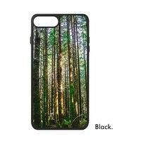 森マウンテン静かな天然新鮮なグリーンツリー霧葉写真画像電話ケースiphone用× 7/8プラスケースphonecaseカバ