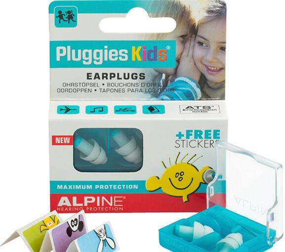 Alpine Kids Earplugs Travel Sleeping Anti Noise Earplugs Anti Snore Earplugs for Child 4-12y 10pcs lot 3m 312 1213 anti noise classic earplugs small for child women s sleep yellow earplugs ven001