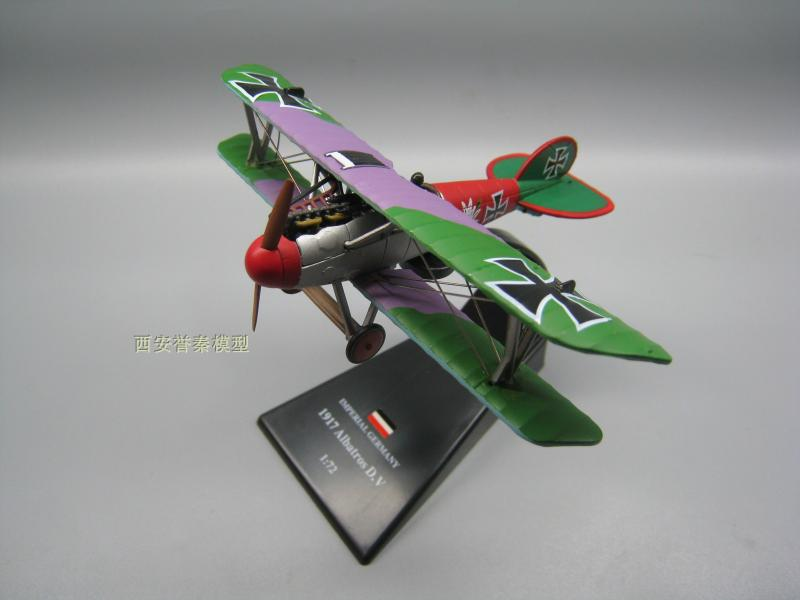 AMER 1/72 Scale Military Model Toys Albatros D.V Fighter Diecast Metal Plane Model Toy For Collection/Gift/Kids