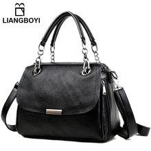 Casual Tote Shoulder Bags For Women 2017 Fashion Crossbody Handbag Leather Strap Hobos Bag Female Big Capacity Black Cross Body