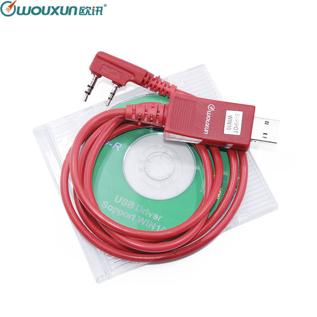 Original WOUXUN USB Programming Cable Walkie Talkie KG UVD1P KG UV6D KG UV8D KG UV899 KG UV9D PLUS Programming Software Cable+CD