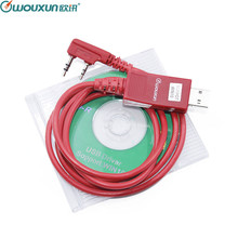 Original WOUXUN USB câble de programmation talkie walkie KG UVD1P KG UV6D KG UV8D KG UV899 KG UV9D PLUS logiciel de programmation câble + CD