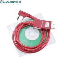 Original wouxun cabo de programação usb walkie talkie KG UVD1P KG UV6D KG UV8D KG UV899 KG UV9D mais programação software cabo + cd