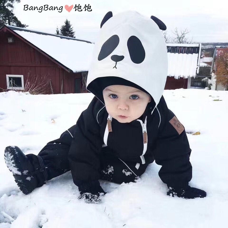 TODDLER GIRL KIDS DOWN JACKETS BABY GIRL WINTER JACKET TODDLER GIRL WINTER COAT OVERALLS PANDA BOY WINTER JACKETS COAT SNOWSUIT