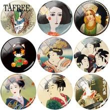 TAFREE Японская женщина Гейша арт клип фотографии 25 мм стекло кабошон купол Flatback Скрапбукинг украшения DIY Изготовление ювелирных изделий