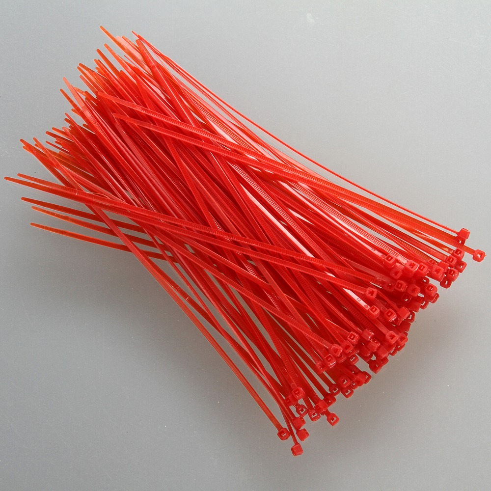 "*SALE* 100pcs 4/"" inch Nylon Plastic Cable Ties 2.5x100mm NEW white or orange"
