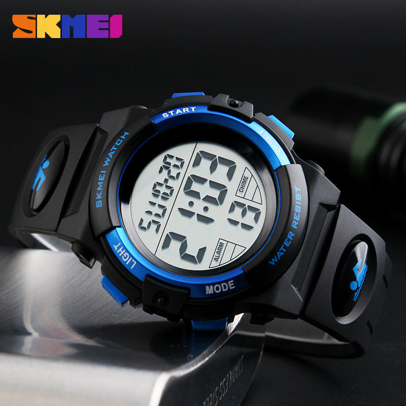 SKMEI Brand Children Watch Clock Outdoor Sports Kids Watches Boys LED Digital Wristwatches 50M Waterproof Relogio Relojes 1266 skmei children led display digital watch 50m waterproof kids sports watches multifunction electronic boys students wristwatches