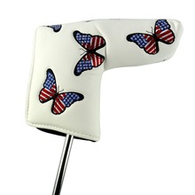 Brezplačna dostava Butterfly USA zastava vezeni vzorec brez pokrovčkov LOGO Golf Putter