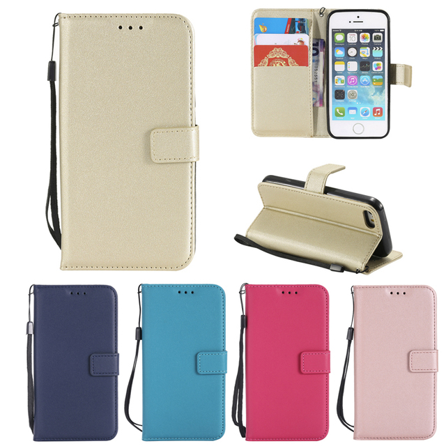 wholesale dealer fff51 6806d US $4.09 11% OFF|Aliexpress.com : Buy For iPhone 5c Etui pouzdro Plain  Brief Stand Magnetic Leather Wallet Flip Case Cover For Apple iPhone SE 5s  Case ...