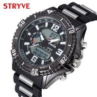 Stryve Merk Man Militaire Horloges Grote Wijzerplaat Waterdichte Dual Display Quartz Digitale Klok Mannen Luxe Sporthorloge reloj hombre