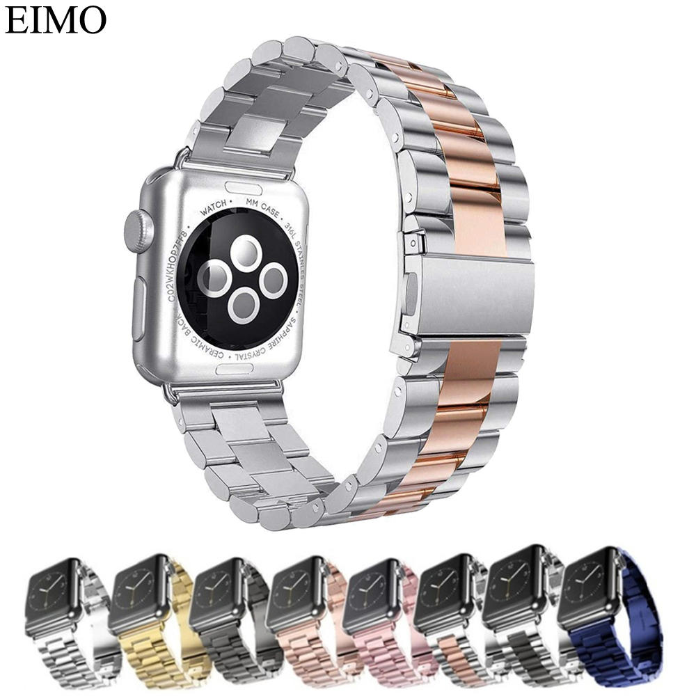 EIMO Link bracelet Strap For Apple watch band 42mm 38mm iwatch series 3/2/1 Replacement Stainless steel Metal wrist Watchband цена