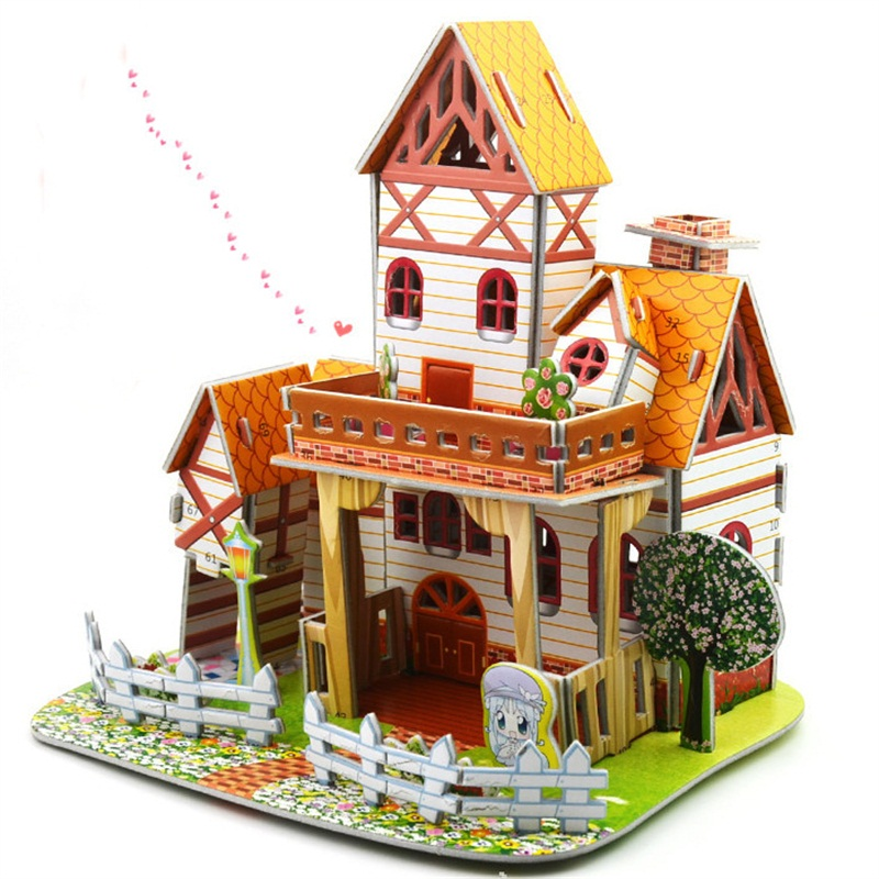 3D Paper Building Puzzle World Souvenir Tower White House Model Bridge Toys  Dame Tour Eiffel For Kids 6 Years Old Gifts Toy