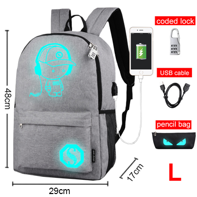 Luminous Animation Back to School Backpack 6