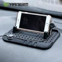 Yianerm antiscivolo In Silicone Pad Phone Holder 3 in 1 Pulg Per iPhone Android Tipo-C di Ricarica Magnetica cavo Auto Del Basamento