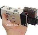 Бесплатная доставка 4V410-15 DC 24 В PT 1/2 на входе 2 трехпозиционного электромагнитного клапана 5 шт. в 1 лот