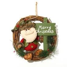 Christmas Reindeer Toy Santa Claus Snowman Elk Decorations Nightmare Before Toys 2018 Plush Tree Hang Soft Kawaii