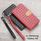 Wallet Leather case for Samsung Galaxy A8 A800 Old Version Luxury Fashion Weave design with cards slot cover