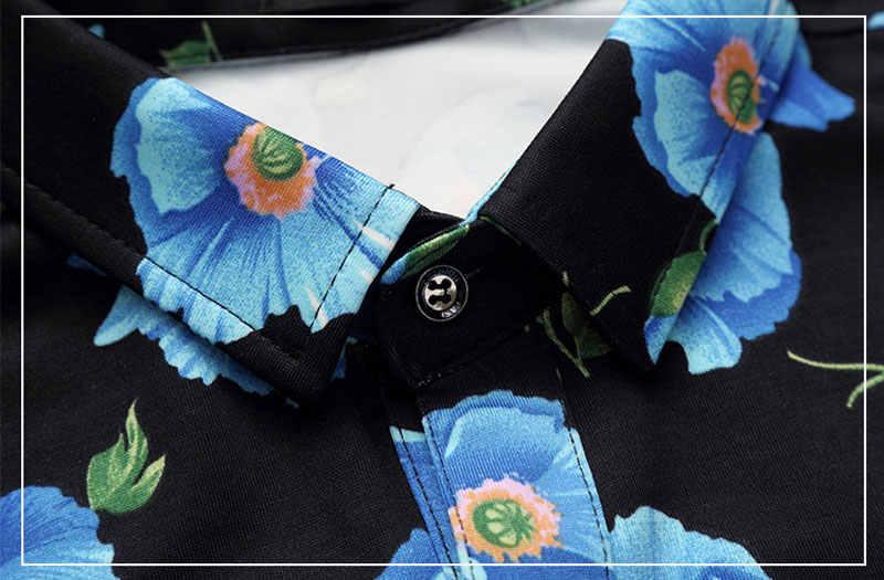 Фирменная Новинка цветочный Для мужчин S с длинными рукавами CHEMISE Homme 2018 Весенняя мода Slim Fit рубашка Для мужчин призвание Гавайский большой Размеры рубашки для мальчиков