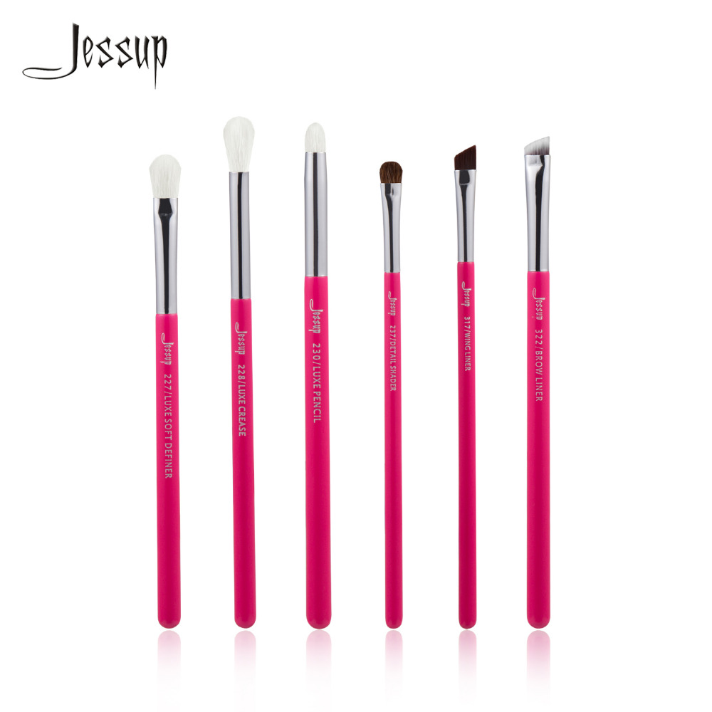 Jessup Rose-carmin/Silver Professional Makeup Brushes Set Beauty Tools Make up Brush kit Eye Shader Liner natural-synthetic hair alterna масло для волос bamboo smooth kendi pure treatment 50ml