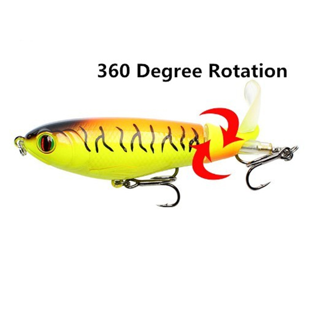 1PCS 9cm 17g Rotating Tail Whopper Plopper Fishing Lure  Minnow Fishing Artificial Hard Bait Topwater Quality Crankbait