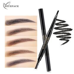 Niceface Doppel Kopf Automatische Augenbraue Enhancer Bleistift Make-Up Wasserdichte Permanent Augen Stirn Kosmetische Stift Mit Augenbraue Pinsel
