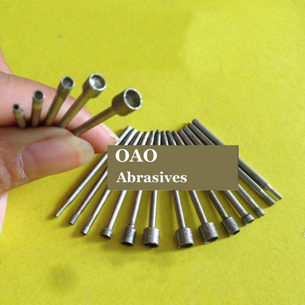 10 Pcs,aspiration Abrasive,making Eye,suit For Jade Carving Grinding,diamond Grinding Tools,diameter Of Handle:2.35mm